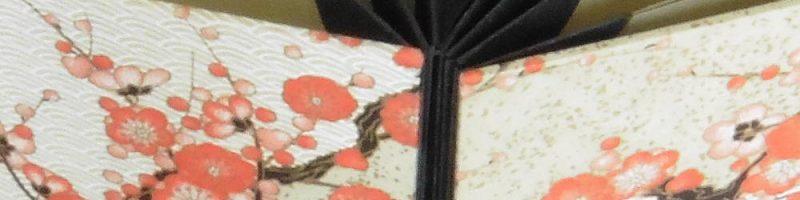 Dans cette reliure Origami, le dos en accordéon est obtenu par pliages d'une feuille - Atelier de reliure